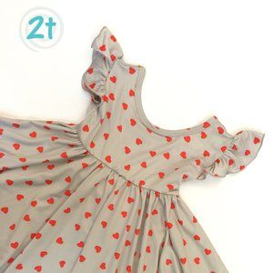 DDS Dot Dot Smile Empire 2t Grey with Red Hearts